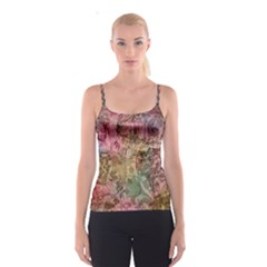 Texture Background Spring Colorful Spaghetti Strap Top