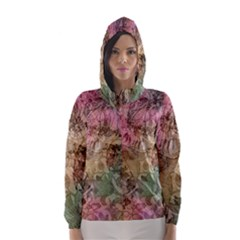 Texture Background Spring Colorful Hooded Wind Breaker (women)