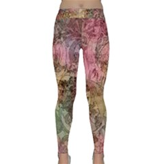 Texture Background Spring Colorful Classic Yoga Leggings