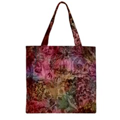 Texture Background Spring Colorful Zipper Grocery Tote Bag