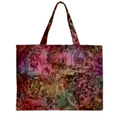 Texture Background Spring Colorful Zipper Mini Tote Bag