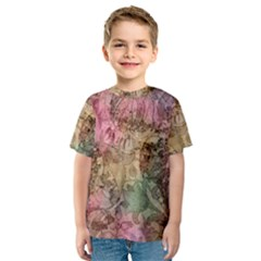 Texture Background Spring Colorful Kids  Sport Mesh Tee