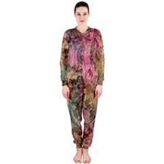 Texture Background Spring Colorful Onepiece Jumpsuit (ladies)