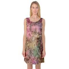 Texture Background Spring Colorful Sleeveless Satin Nightdress