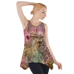 Texture Background Spring Colorful Side Drop Tank Tunic
