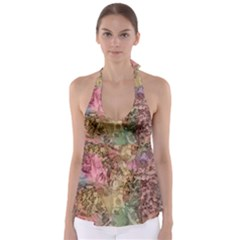 Texture Background Spring Colorful Babydoll Tankini Top