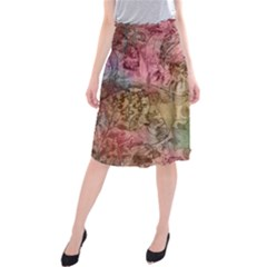 Texture Background Spring Colorful Midi Beach Skirt