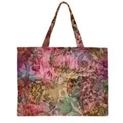 Texture Background Spring Colorful Large Tote Bag