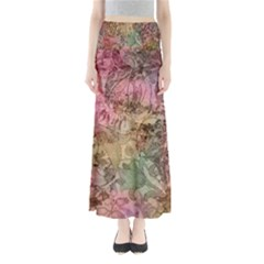 Texture Background Spring Colorful Maxi Skirts