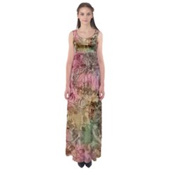 Texture Background Spring Colorful Empire Waist Maxi Dress