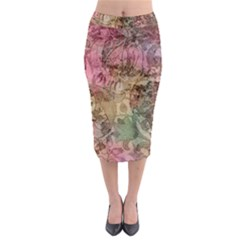 Texture Background Spring Colorful Midi Pencil Skirt