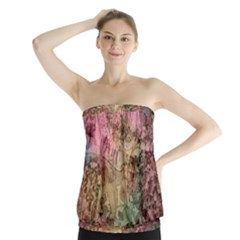Texture Background Spring Colorful Strapless Top