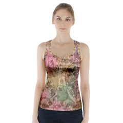 Texture Background Spring Colorful Racer Back Sports Top