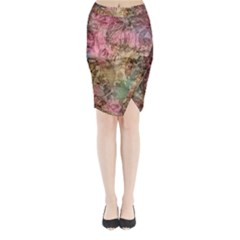 Texture Background Spring Colorful Midi Wrap Pencil Skirt