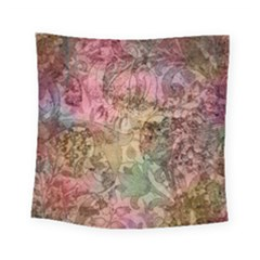 Texture Background Spring Colorful Square Tapestry (small)