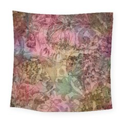 Texture Background Spring Colorful Square Tapestry (large)