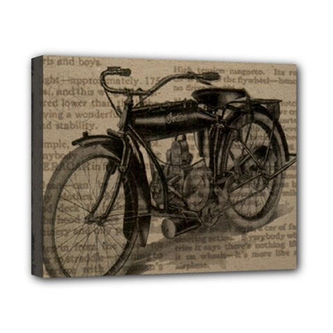 Vintage Collage Motorcycle Indian Canvas 10  X 8