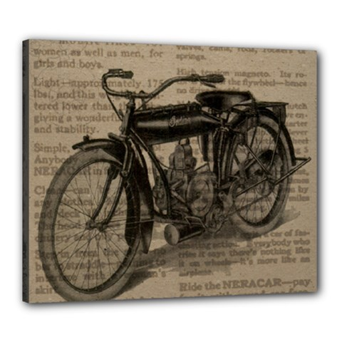 Vintage Collage Motorcycle Indian Canvas 24  X 20