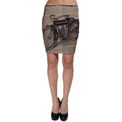 Vintage Collage Motorcycle Indian Bodycon Skirt