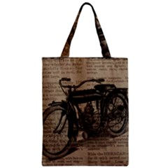 Vintage Collage Motorcycle Indian Zipper Classic Tote Bag