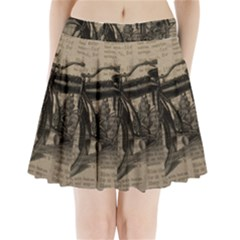 Vintage Collage Motorcycle Indian Pleated Mini Skirt