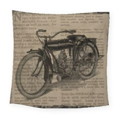Vintage Collage Motorcycle Indian Square Tapestry (large)