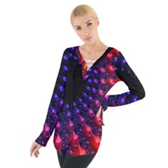 Fractal Mathematics Abstract Women s Tie Up Tee
