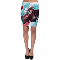 Wallpaper Background Watercolors Bodycon Skirt