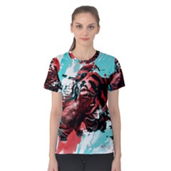 Wallpaper Background Watercolors Women s Cotton Tee