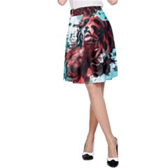 Wallpaper Background Watercolors A Line Skirt
