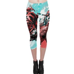 Wallpaper Background Watercolors Capri Leggings