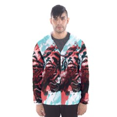 Wallpaper Background Watercolors Hooded Wind Breaker (men)