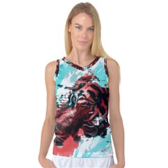 Wallpaper Background Watercolors Women s Basketball Tank Top