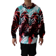 Wallpaper Background Watercolors Hooded Wind Breaker (kids)