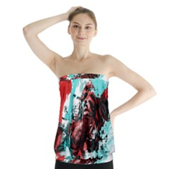 Wallpaper Background Watercolors Strapless Top