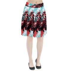 Wallpaper Background Watercolors Pleated Skirt