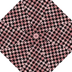 Houndstooth2 Black Marble & Red & White Marble Hook Handle Umbrella (small)