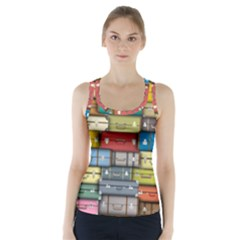 Colored Suitcases Racer Back Sports Top