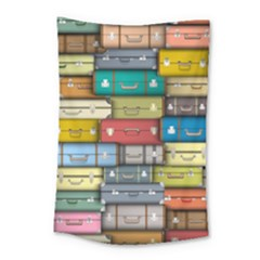 Colored Suitcases Small Tapestry