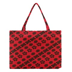 Diogonal Flower Red Medium Tote Bag
