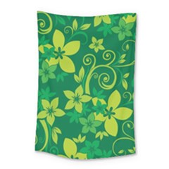 Flower Yellow Green Small Tapestry