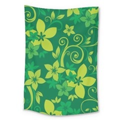 Flower Yellow Green Large Tapestry