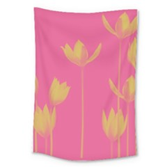 Flower Yellow Pink Large Tapestry