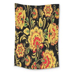 Flower Yellow Green Red Large Tapestry