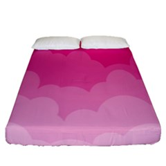 Lines Pink Cloud Fitted Sheet (queen Size)