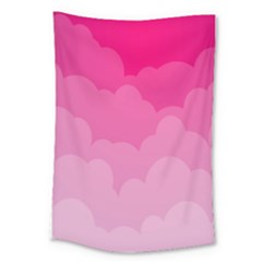 Lines Pink Cloud Large Tapestry