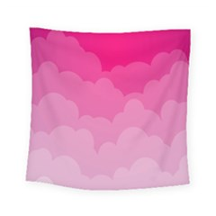 Lines Pink Cloud Square Tapestry (small)
