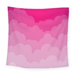 Lines Pink Cloud Square Tapestry (large)
