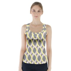 Hearts And Yellow Washi Zigzags Tileable Racer Back Sports Top