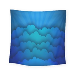 Blue Sky Jpeg Square Tapestry (small)